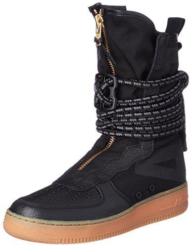 new arrival 8607f fc34e Nike Sf Af1 Hi, Scarpe da Ginnastica Uomo, Nero (Blackblackgum Med Brown)