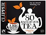 Clipper Fairtrade Everyday 80 Teabags (Pack of 6, Total...