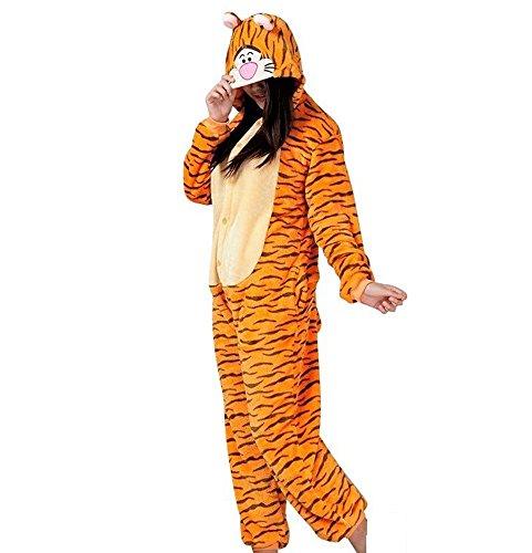 hot unisex costume carnevale Halloween Pigiama animali kigurumi cosplay Zoo onesies tuta-XL/180-Tigre