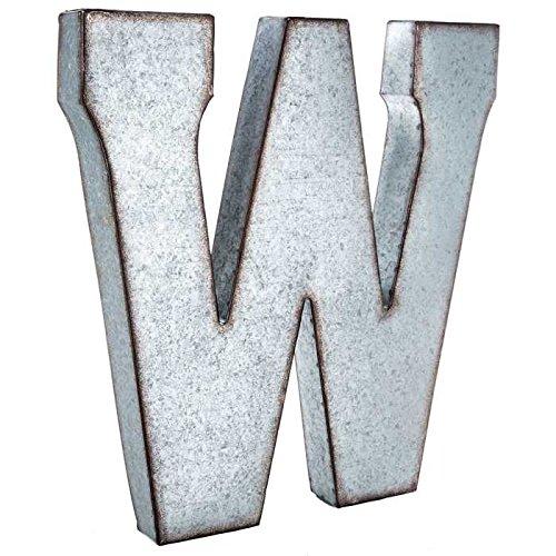 Generic Riesige 50,8cm Metall Alphabet Wand Décor Buchstabe Rost Edge verzinktem Metall W -