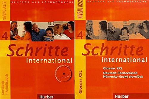 Schritte international 4. Kurs- und Arbeitsbuch mit Audio-CD und Glossar XXL Deutsch - Tschechisch: Deutsch als Fremdsprache