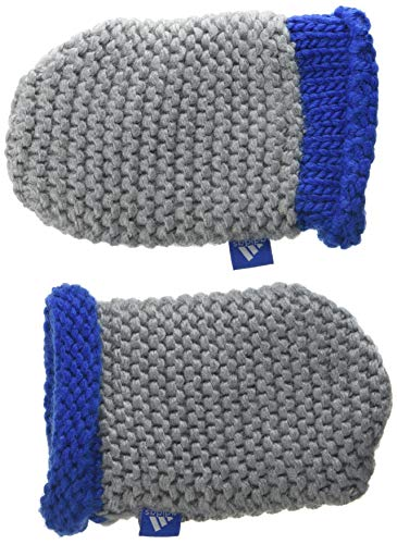 adidas Baby Infants Mittens Handschuh, Medium Grey Heather/Blue/White, XS