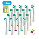 Supmaker 16PCS Electric Toothbrush Heads Replacement Tooth Brush Heads for Oral-B Braun (EB-17D)