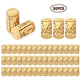 Yanhonin 50 STK. Stöpsel für Basteln, Dekoration, Korken aus Naturkork, Wein