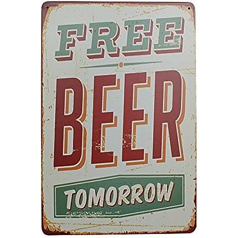 Pósteres Placas Cartel Arte Pared Cerveza Beber Estaño Metal Estaño Vendimia Decoración Café Bar Pub 04