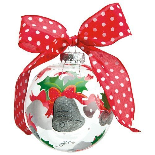 Lolita Glass Ball Ornament - Silver Bells - Hand Painted by Santa Barbara Design Studio -