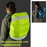 Schulranzen-Schutzhülle Regenhaube mit Reflektorstreifen 25 x 50 x 20 cm -