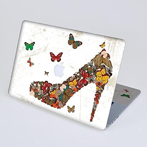 """Tiankaid Schmetterlinge Absatz-Schuh-Kratzfeste Ganzkörper-Haut-Aufkleber für Retina MacBook Pro 15"""""""