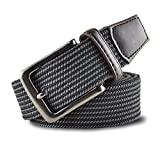 LDZY Cinghie Elastiche Intrecciate Elasticizzate Per Uomo Canvas Covered Buckle Waist Belt Pin Buckle For Shorts Pantaloni Cargo Cintura,A-105cm