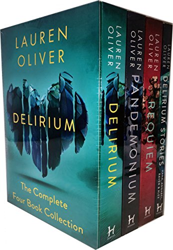 Lauren Oliver Delirium Collection - Juego de 4 Cajas de Libros (Entrega, pandatanio, necesaria, Historias de envío)