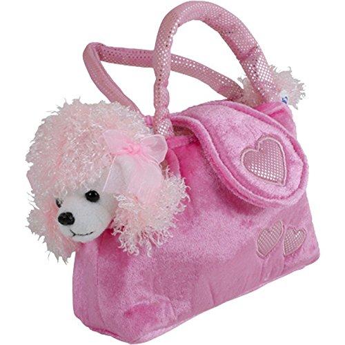 """Pudel in der Tasche """"Trixi"""" aus kuschelweichem Plüsch, mit einer niedlichen Handtasche ideal zum Mitnehmen, ein treuer Wegbegleiter für kleine Damen ab 3 Jahren"""