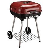 Outsunny Barbecue a Carbonella BBQ Grill con Coperchio e Ruote 45 × 47.5 × 70cm