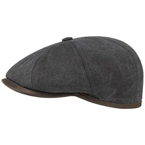 hatteras-seward-canvas-flat-cap-stetson-cotton-cap-ivy-hat-s-54-55-anthracite