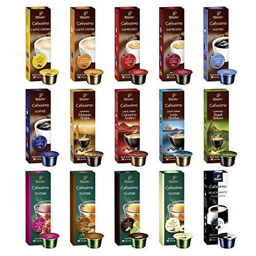 Tchibo Cafissimo Collection Sorten Mix 150 Kapseln, Probier Box - Kaffee, Espresso, Caffè Crema, Tee