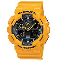 Casio G-Shock – Reloj Hombre Analógico/Digital con Correa de Resina – GA-100A