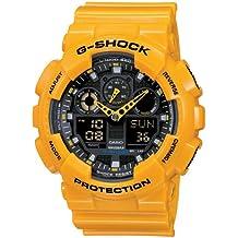 Casio G-Shock – Reloj Hombre Analógico/Digital con Correa de Resina – GA-100A-9AER