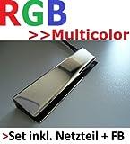 LED RGB Glaskantenbeleuchtung Glasbodenbeleuchtung Vitrinenbeleuchtung Clip Glas (1er SET)