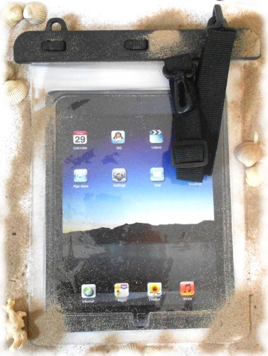 PRESKIN - Wasserfeste Tasche bis 10.1 Zoll Display, Wasserdichte Tablet Schutzhülle (Beachbag10.1 Clear) / PC- Tablet-Hülle mit Touchscreen Funktion wie Schutzfolie/Displayfolie, Hülle Waterproof