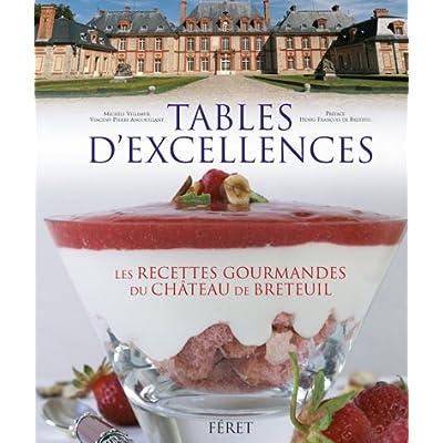 Tables d'excellences : Histoire & gastronomie au château Breteuil : 62 recettes gourmandes