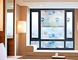 EEvER Gadget familiari applicati Adesivi in Mongolfiera Adesivo in Vetro Adesivo Isolante per Camera da Letto Bagno Soggiorno Ufficio