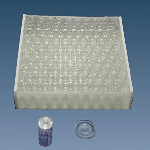 Ampullen, Rollrandgläser, Gewürzgläser, Schnappdeckelgläser incl. PE Deckel (10, 80 x 30 mm = 40 ml)