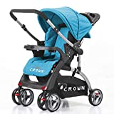 Best Dual Strollers - Crown ST530 Buggy Stroller Dual-way Blue Review