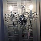 Regalia 40722S22 - Lampada da parete a 2 bracci, colore: trasparente