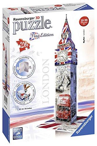 3d Flag (Ravensburger 12582 - Flag Edition Big Ben - 3D Puzzle-Bauwerke, 216 Teile)