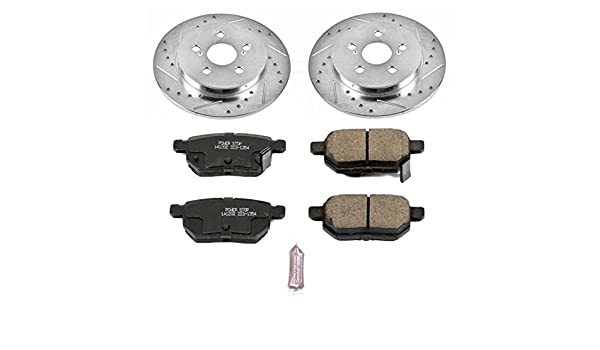 Power Stop K4736 Rear Z23 Evolution Brake Kit with Drilled//Slotted Rotors and Ceramic Brake Pads