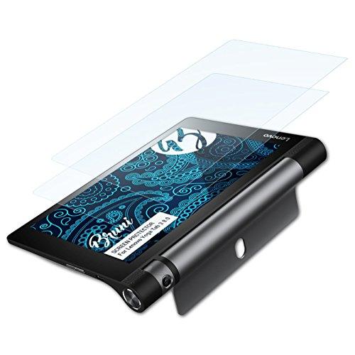 Bruni Schutzfolie kompatibel mit Lenovo Yoga Tab 3 8.0 Folie, glasklare Bildschirmschutzfolie (2X)