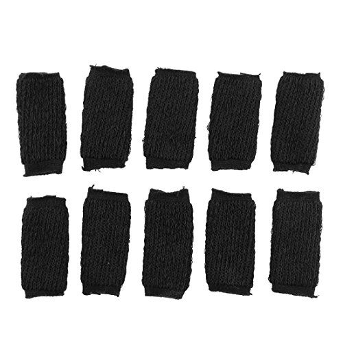 10PCS Black Sports Elastic Finger Support Sleeve Protector