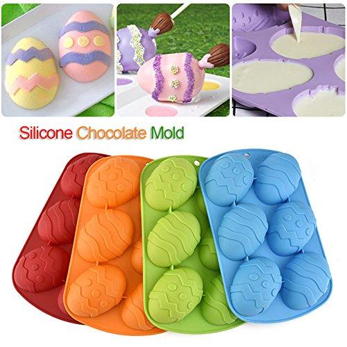 Yunt Ostern Ei Kuchenform Silikonform 6-Hohlraum Schokoladeneier Easter Silicone Cake Mold, Farbe wird nach dem Zufallsprinzip versendet