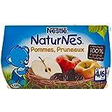 Blottir Naturnes Pommes Et Les Pruneaux (4/6 Mois) 4 X 130G - Paquet de 4
