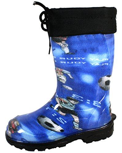 BOCKSTIEGEL® JUPP Bambini - Stivali di gomma alla moda (Taglie: 22-35), Colori:Blue/Multi;Dimensioni:29