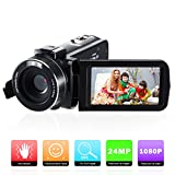 Cámara de Video,Videocámara Full HD 1080P Vlogging Cámara compacta 16X Digital Zoom para...