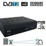 Crypto ReDi 260 1080P Full HD 1080P DVB-T2 Decoder Digitale Ricevitore Terrestre sistema Dolby Lettore multemediale (H.264/ MPEG-2/4/ HDMI/ SCART/ PVR/ TIMESHIFT) nero