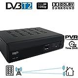 Crypto Redi 260 DVB-T2 Sintonizador Receptor y Grabador TDT Full HD 1080P con Dolby Reproductor Multimedia PVR (H.264 / MPEG-2/4, HDTV, HDMI, USB 2.0) negro