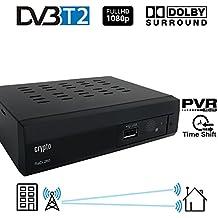 Crypto Redi 260P DVB-T2 Sintonizador Receptor y Grabador TDT Full HD 1080P con Dolby Reproductor Multimedia PVR (H.264 / MPEG-2/4, HDTV, HDMI, USB 2.0) negro