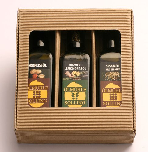Ölmühle Solling Geschenkset Chinesische Küche – BIO – Erdnussöl – Sesamöl – Ingwer-Lemongras 100ml