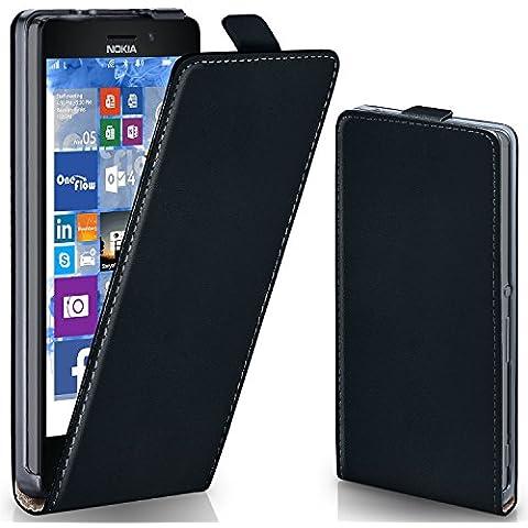 Bolso OneFlow para funda Nokia Lumia 925 Cubierta con imán | Estuche Flip Case Funda móvil plegable | Bolso móvil protección móvil paragolpes funda protectora con cubierta en Nero