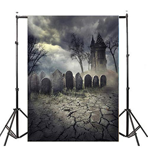 OverDose Damen Halloween Backdrops Kürbis Vinyl 3x5FT Laterne Hintergrund Home Bar Clubbing Fotografie ()