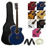 Tiger ACG4-BL Elektro-Akustische Gitarre-Set - Blau