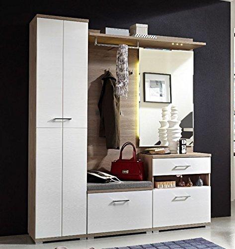 Victoria 3 Kompaktgarderobe Garderoben Set Komplettgarderobe WeißSilbereiche