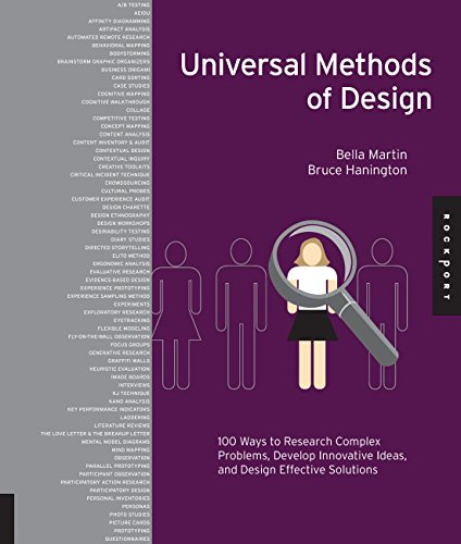 Universal Methods of Design: 100 Ways to Research Complex Problems, Develop Innovative Ideas, and Design Effective Solutions por Bruce Hanington