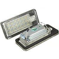 KATUR 1 par de luces de matrícula para coche, sin errores CAN Bus, 18 LEDs SMD