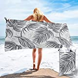 Socksforu Fast Quick Dry Towel,Sports & Beach Towel.Palm Silver Linen Suitable for Camping, Gym, Yoga,Swimming,Travel,Hiking,Backpacking.