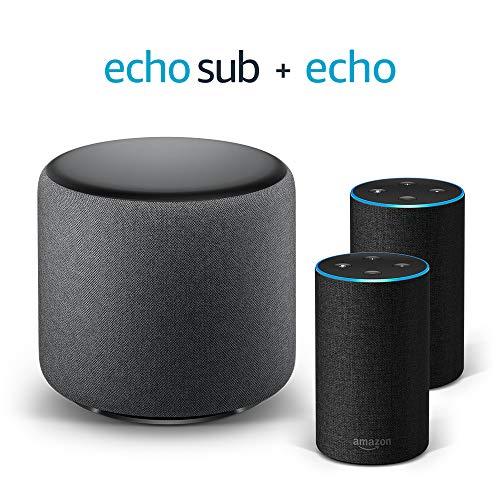 Echo Stereo System – 2 Echo (2ª generazione), Tessuto antracite + 1...