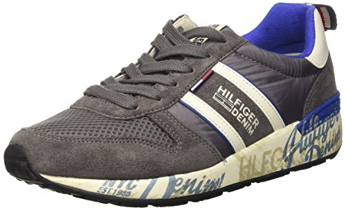 Tommy Hilfiger T2385RACK 1C Scarpe Low-Top, Uomo, Grigio (Steel Grey/Light Grey 039), 42