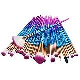 12PCS Makeup Brush Set - Augenbürste Augenbrauenpinsel Gradient Diamond Handle Beauty Kit