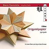 Origami Stern Franziska mit Anleitung(deutsch), Kupfer/Gelb